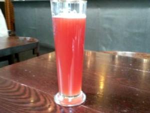Raspberry beer @ Belgos