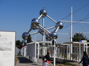 At the Atomium in Heysel