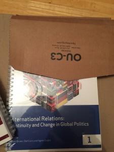 My final module, all ready to start International relations!