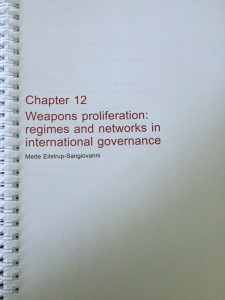 Chapter 12 - Weapons Proliferation