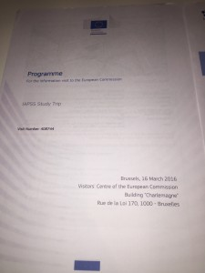 Visit to the EU commission