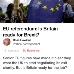We aren't ready for Brexit what a surprise