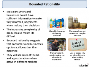 An image explaining bounded rationality